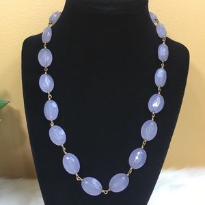 Jewelry - Purple bead and link necklace